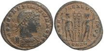Ancient Coins - Roman coin of Constantine II - GLORIA EXERCITVS - Constantinople Mint - VF+