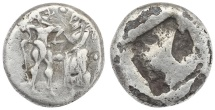 Ancient Coins - Greek Stater, Thraco-Macedonian Region, Siris AR Stater