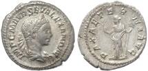 Ancient Coins - Roman coin of Severus Alexander AR silver denarius -