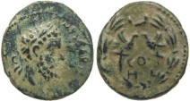 Ancient Coins - Septimius Severus AE 22mm of Heliopolis