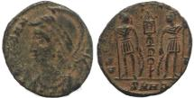 Ancient Coins - Constantinopolis Commemorative - GLORIA EXERCITVS- Nicomedia