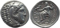 Ancient Coins - Kings of Macedonia, Alexander III 336-323BC AR silver Tetradrachm - posthumous issue