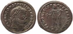 Ancient Coins - Roman coin of Constantius I Chlorus as Caesar - GENIO AVGG ET CAESARVM N N - Cyzicus