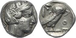 Ancient Coins - Attica, Athens AR Silver Tetradrachm