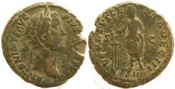 Ancient Coins - Antoninus Pius Æ As - VOTA SVSCEPTA DEC III S-C