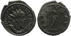Ancient Coins - Postumus silvered antoninianus -VIRTVS AVG