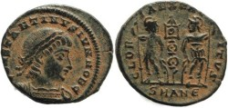 Ancient Coins - Constantine II - GLORIA EXERCITVS - Antioch Mint