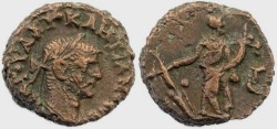 Ancient Coins - Diocletian Potin Tetradrachm minted in Alexandria, Egypt - Year 3, 287AD.