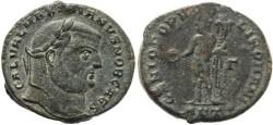 Ancient Coins - Galerius Ae follis - GENIO POPV-LI ROMANI - Antioch