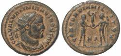 Ancient Coins - Roman coin of Galerius - CONCORDIA MILITVM
