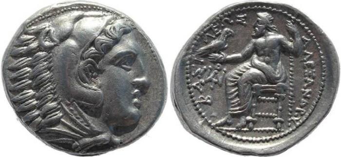 Ancient Coins - Kings of Macedonia, Alexander III 336-323BC AR silver Tetradrachm - posthumous issue