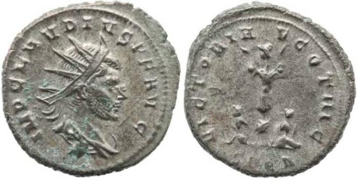 Ancient Coins - Roman Empire Claudius II Gothicus, AE antoninianus - VICTORIAE GOTHIC SPQR - RARE