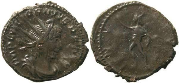 Ancient Coins - Romano Gallic Emperor Victorinus 268-270AD - INVICTVS