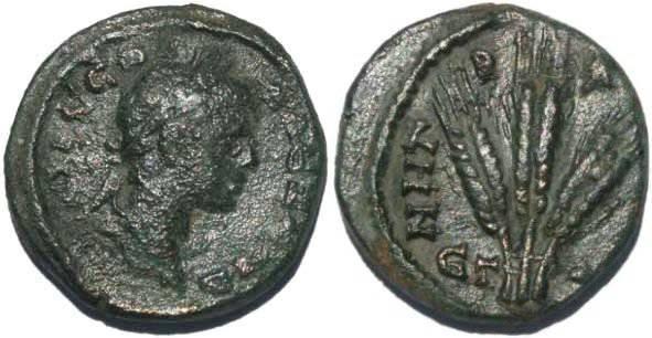 Ancient Coins - Severus Alexander, Caesarea, Cappadocia 229AD Year 8 Cf L  I  A1725A
