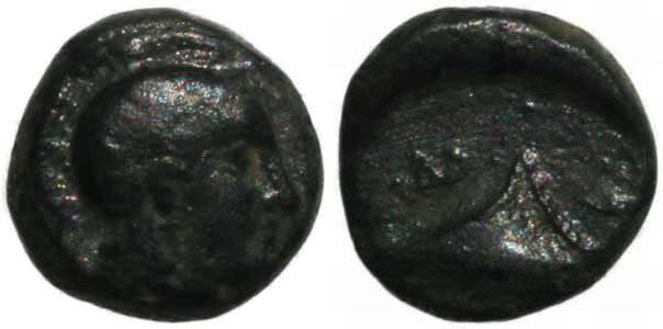 Ancient Coins - Salamis, Cyprus 322-312BC Ae9 Sym. 111, BMC Cyprus, P. 108, 13v