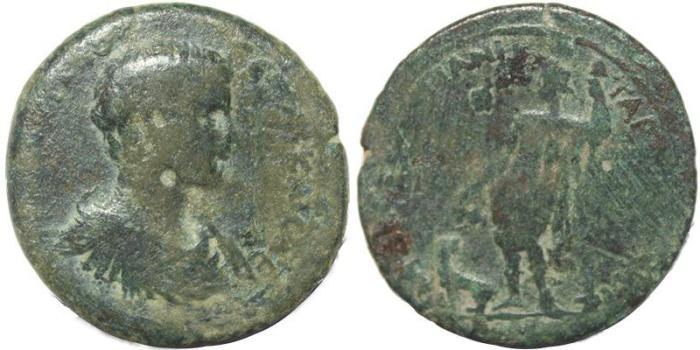 Ancient Coins - Roman Provincial coin of Geta Ae36 - Tarsos, Cilicia - medallic flan