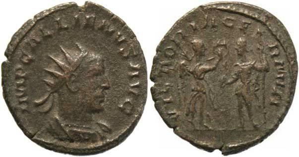 Ancient Coins - Gallienus billion Antoninianus - VICTORIA GERMAN - Scarce