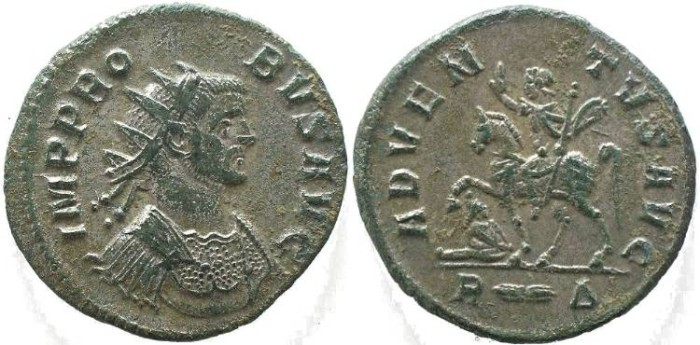 Ancient Coins - Probus 276-282 AD silvered antoninianus, ADVENTVS AVG