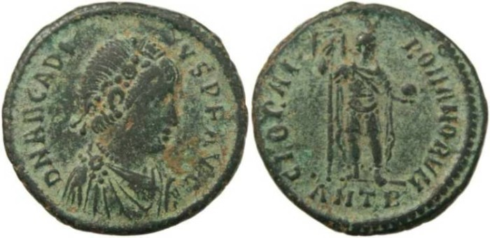 Ancient Coins - Arcadius Ae2 - GLORIA ROMANORVM - Antioch Mint - 15 May 392 - 17 Jan 395AD