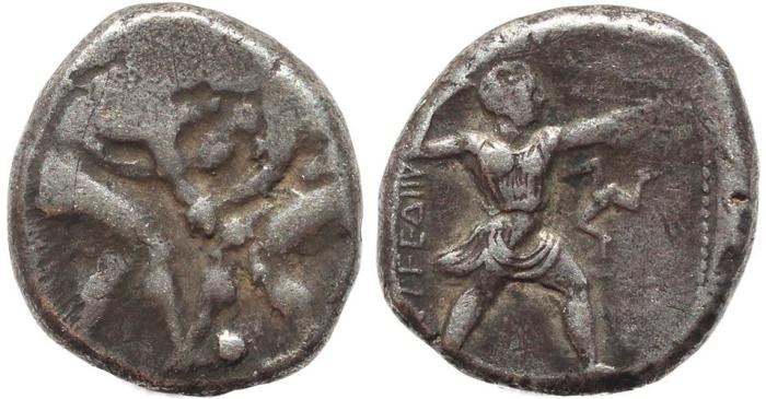 Ancient Coins - Pamphylia, Aspendus Circa 415-400 BC AR stater