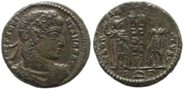 Ancient Coins - Constantine I Magnus - GLORIA EXERCITVS - Rome