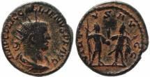 Ancient Coins - Roman coin of Gallienus Antoninianus - VIRTVS AVGG