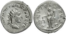 Ancient Coins - Philip I 'the Arab' silver antoninianus - AEQVITAS AVGG