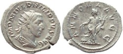 Ancient Coins - Philip I AR silver antoninianus - ANNONA AVGG