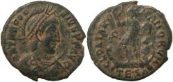 Ancient Coins - Theodosius I - GLORIA ROMANORVM - Thessalonica mint