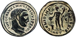 Ancient Coins - Roman coin of Maximinus II Ae Follis - GENIO IMPERATORIS - Antioch