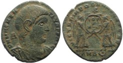 Ancient Coins - Magnentius AE Centenionalis - VICTORIAE DD NN AVG ET CAES - VOT V MVLT X - Scarce