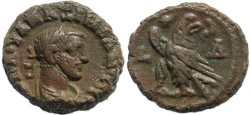 Ancient Coins - Roman Egypt - Maximianus and Eagle - Year 4