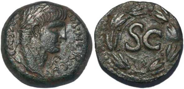 Ancient Coins - Nero AE22mm of Antiochia ad Orontem, 54-68AD SGI 619