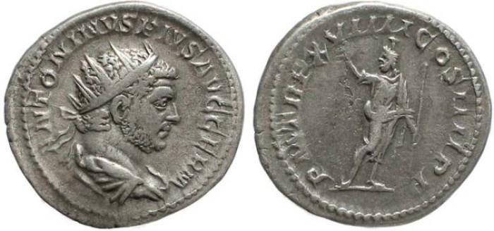 Ancient Coins - Caracalla Antoninianus - PM TR P  XVIIII COS IIII P P