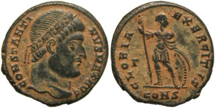 Ancient Coins - Scarce Roman coin of Constantine I 'The Great'
