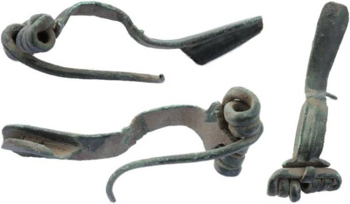 Ancient Coins - Roman Bronze Fibula with pin and spring intact