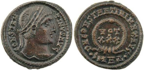 """Ancient Coins - Constantine I """"The Great"""" 307-337AD - DN CONSTANTINI MAX AVG - Heraclea"""