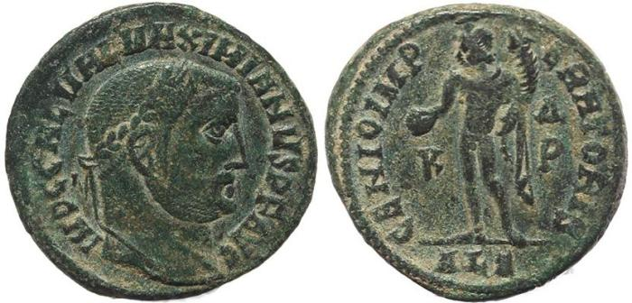 Ancient Coins - Roman coin of Maximinus II AE follis - GENIO IMPERATORIS - Alexandria