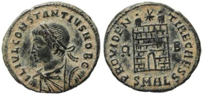 Ancient Coins - Roman Empire Constantius II - PROVIDENTIAE CAESS-  Alexandria Mint
