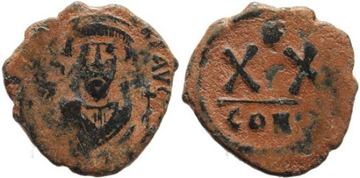 Ancient Coins - Byzantine coin of Phocas - Half follis - Constantinople
