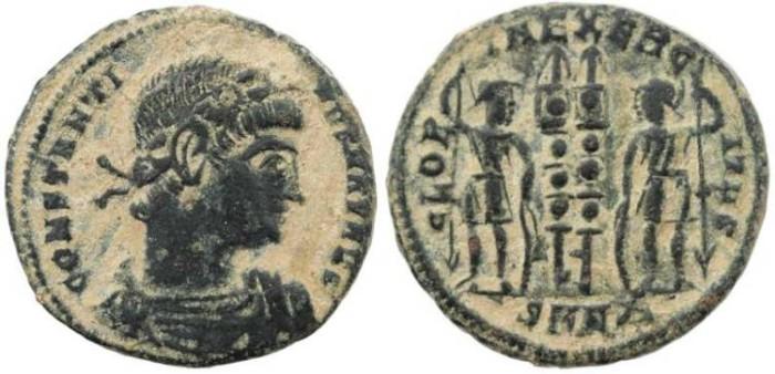 Ancient Coins - Constantine I Magnus 307-337AD - GLORIA EXERCITVS - Nicomedia Mint