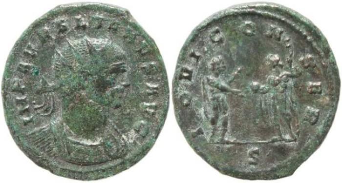 Ancient Coins - Aurelian Antoninianus - IOVI CONSER - Milan Mint
