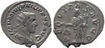 Ancient Coins - Philip I silver antoninianus - AEQVITAS AVGG