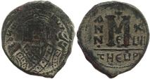 Ancient Coins - Byzantine coin of Maurice Tiberius AE Follis - Antioch - Year 17