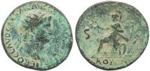 Ancient Coins - Nero AE orichalcum dupondius - Rome Mint - Scarce
