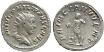 Ancient Coins - Philip II silver antoninianus - PRINCIPI IVVENT- Prince of the Youth
