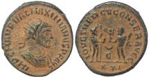 Ancient Coins - Roman coin of Maximianus - IOV ET HERCV CONSER AVGG - Antioch.