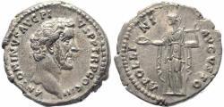Ancient Coins - Roman coin of Antoninus Pius AR silver denarius - APOLLINI AVGVSTO