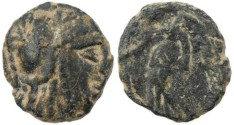 Ancient Coins - Ancient Nabatean coin of Aretas II 110-96BC