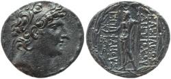 Ancient Coins - Seleucid Kingdom Antiochus VIII Epiphanes Grypus AR silver tetradrachm 125 - 96 B.C - VF+++